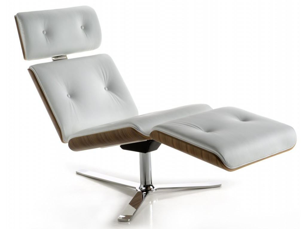 white leather chaise quot armadillo 7 quot chaise longue walnut finish in white 21984 | 61 407 thickbox
